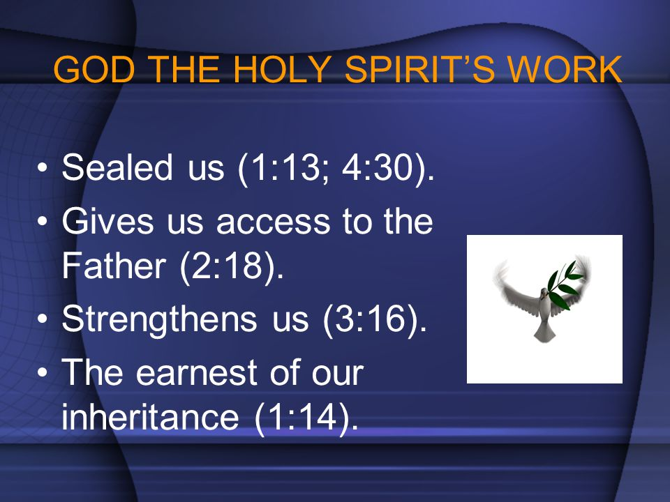 GOD THE HOLY SPIRIT'S WORK