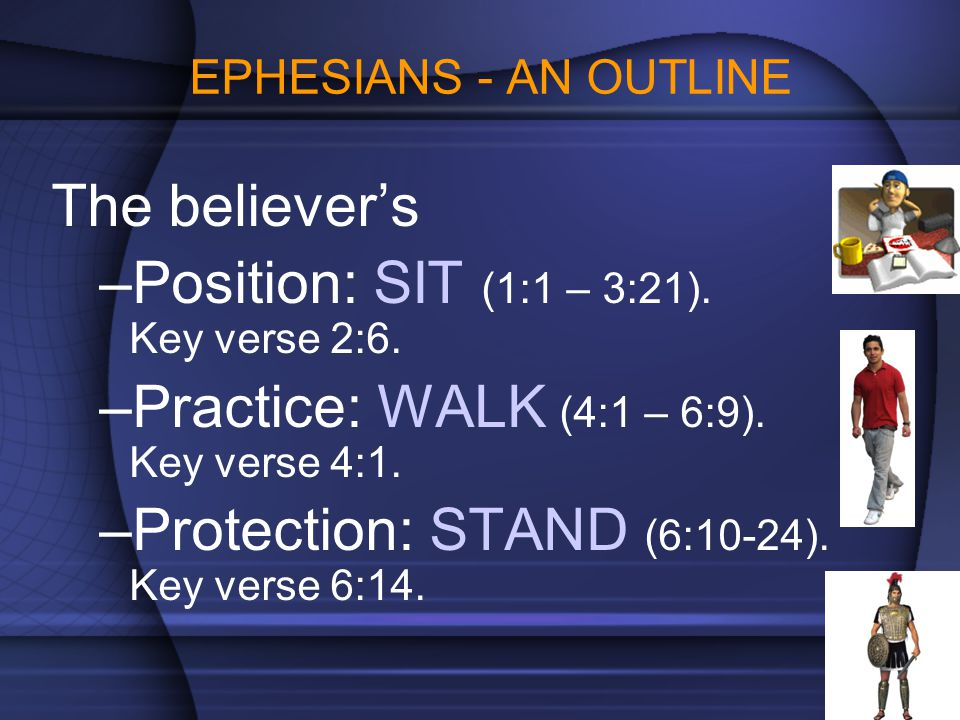 Position: SIT (1:1 – 3:21). Key verse 2:6.