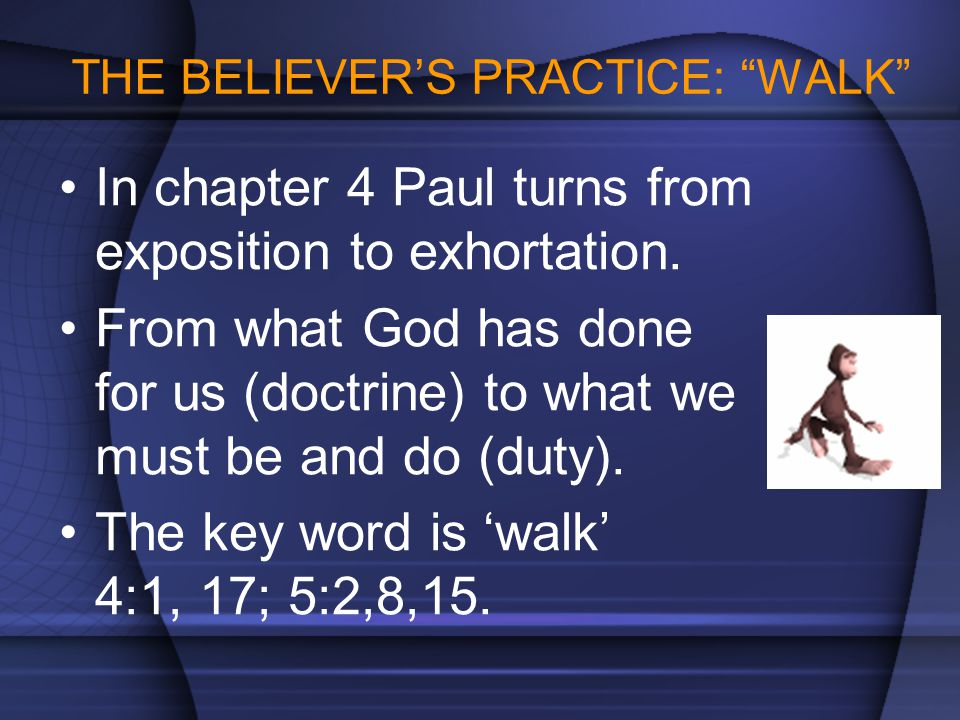 THE BELIEVER'S PRACTICE: WALK