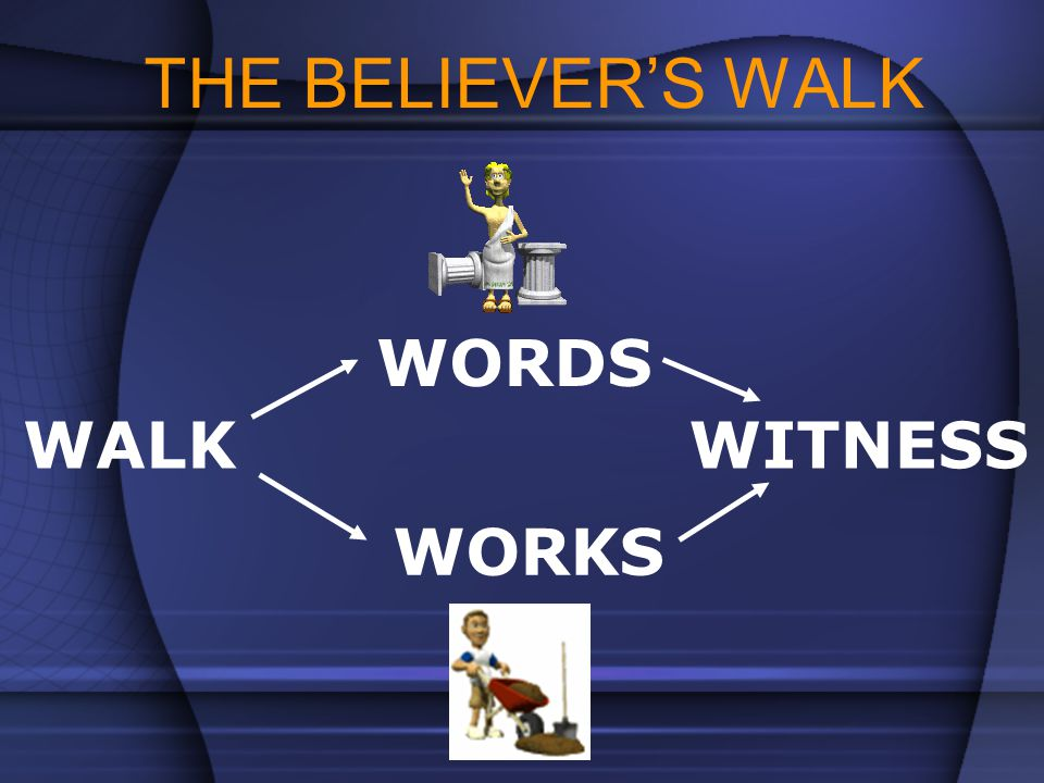 THE BELIEVER'S WALK WORDS WALK WITNESS WORKS