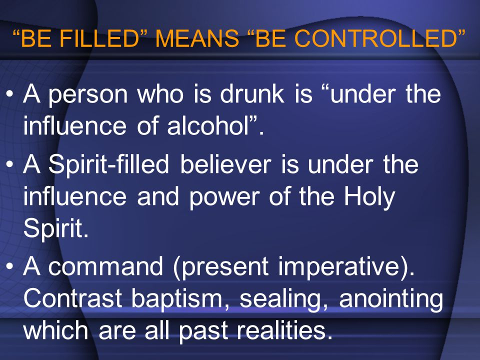 BE FILLED MEANS BE CONTROLLED