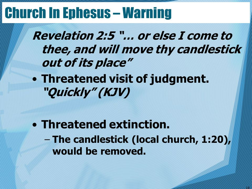 Church In Ephesus – Warning