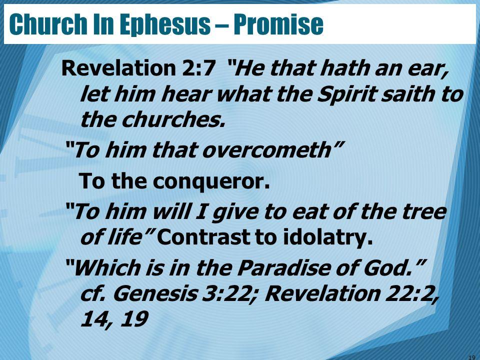 Church In Ephesus – Promise