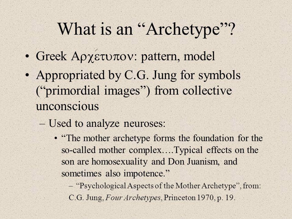 What is an Archetype Greek Arcetupon: pattern, model