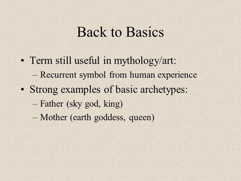 Back to Basics Term still useful in mythology/art:
