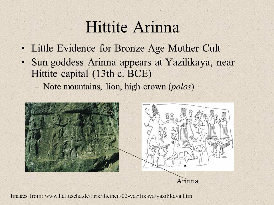 Hittite Arinna Little Evidence for Bronze Age Mother Cult