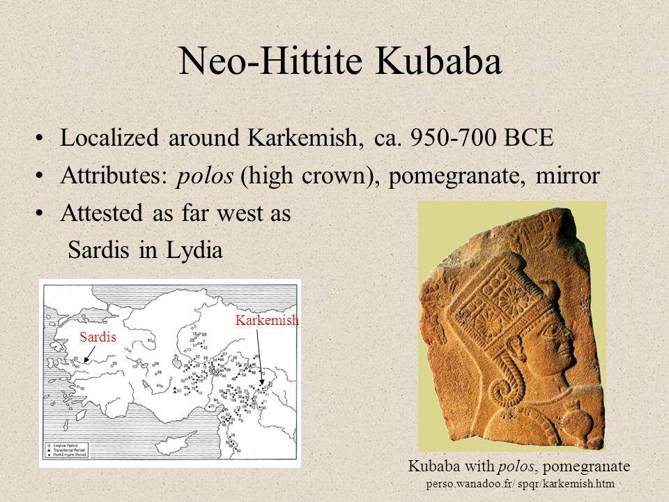 Neo-Hittite Kubaba Localized around Karkemish, ca. 950-700 BCE