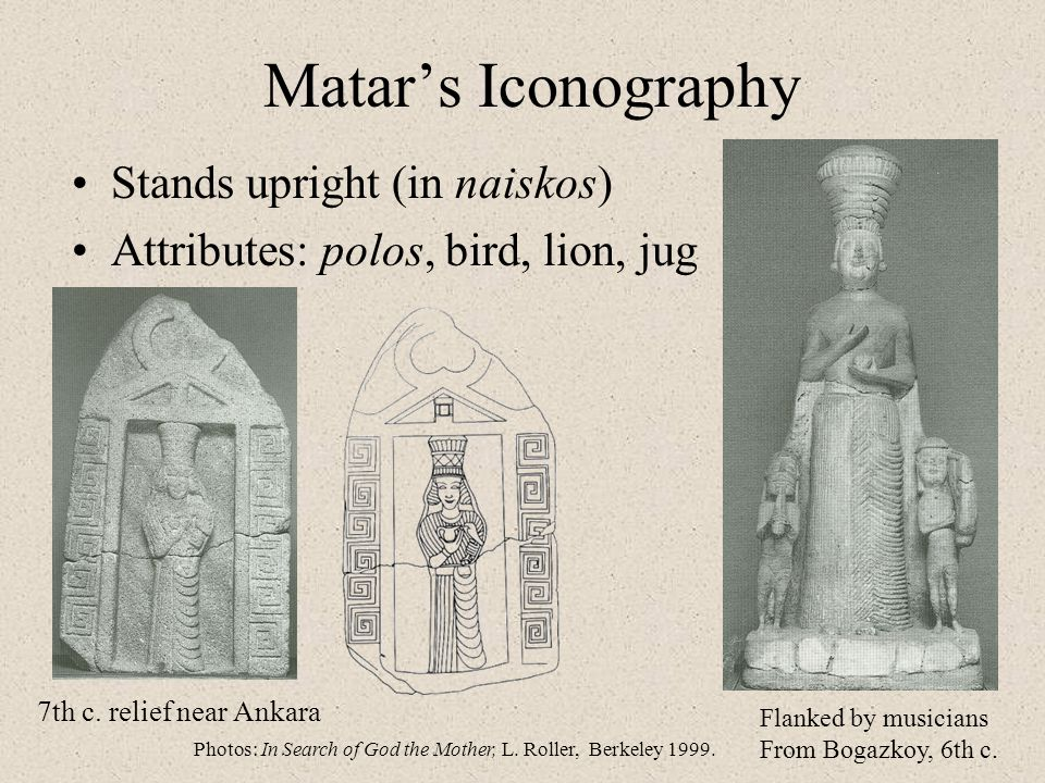 Matar's Iconography Stands upright (in naiskos)
