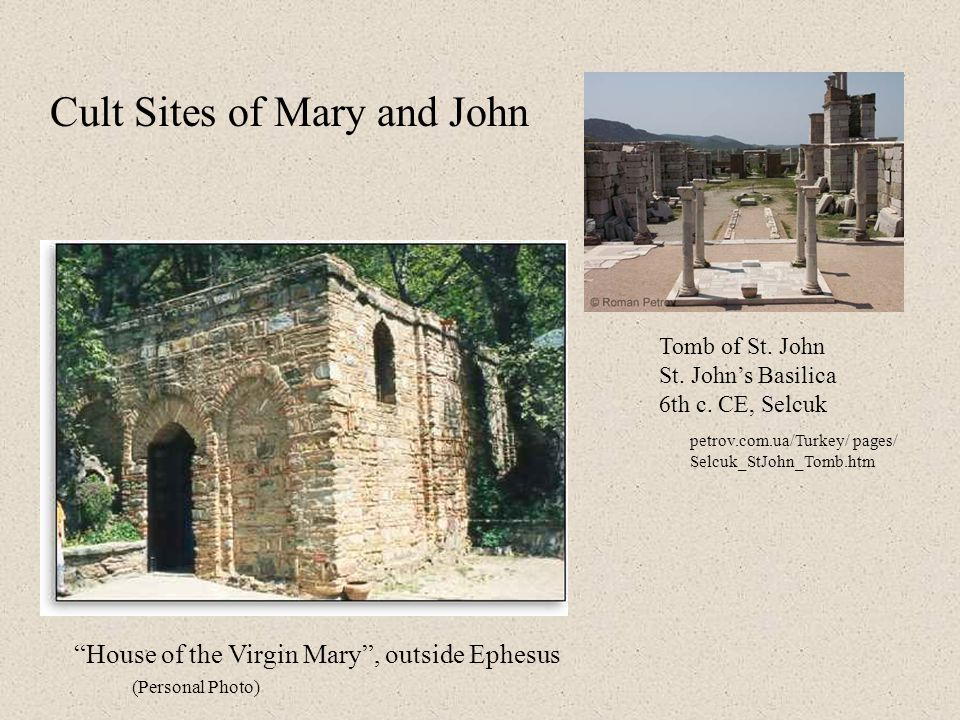 Cult Sites of Mary and John