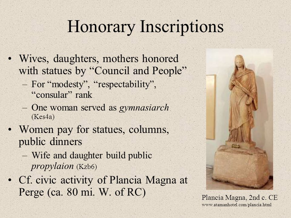Honorary Inscriptions