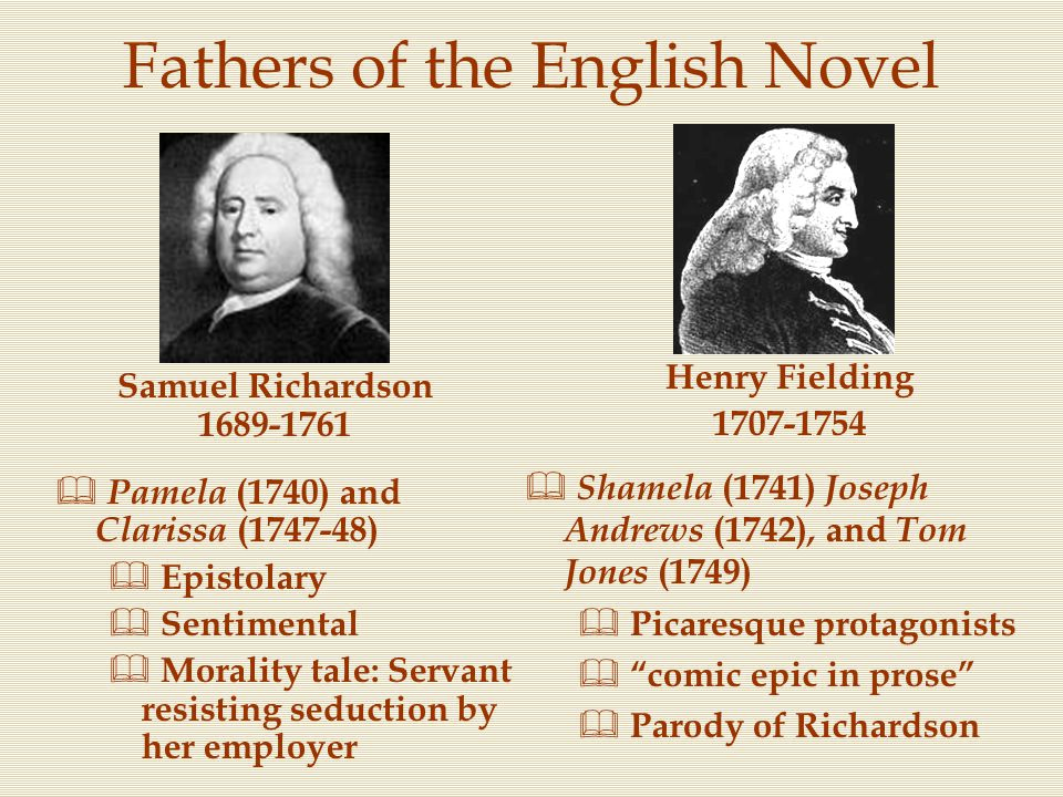 Fathers of the English Novel