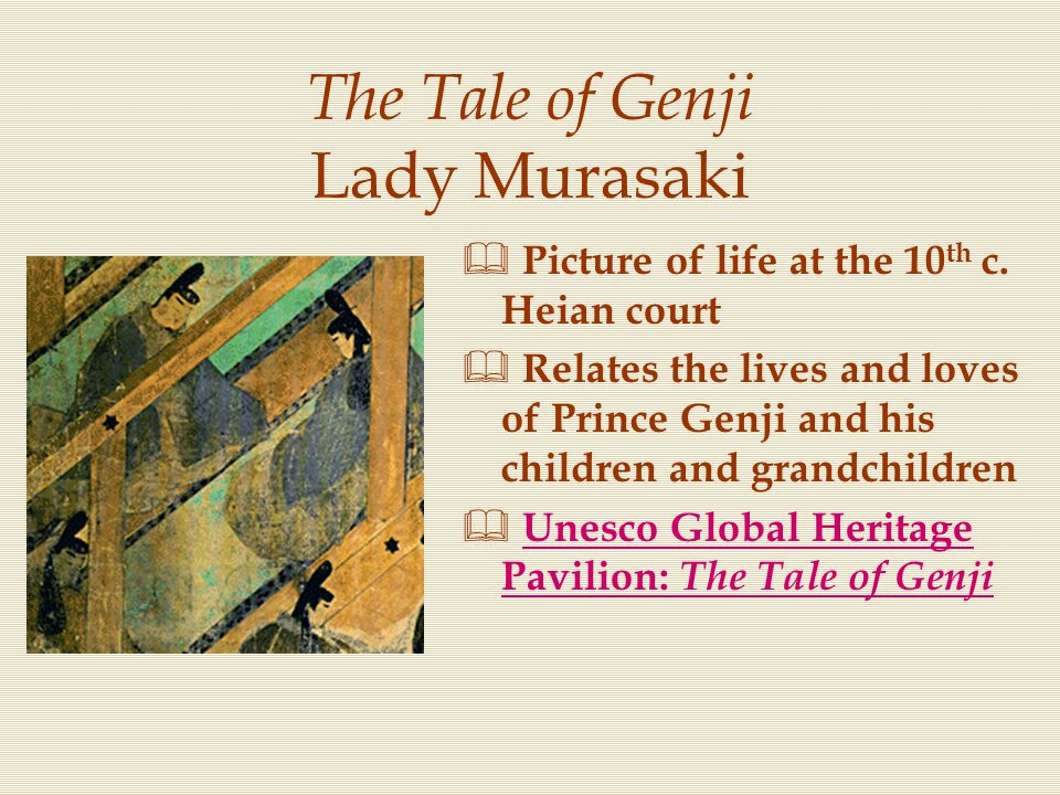 the diary of lady murasaki The diary of lady murasaki, gives the reader a glimpse of the imperial court during eleventh century japanbeing an attendant in the imperial court, murasaki is frequently involved with the activities of elite as a woman, lady murasaki's descriptions are oriented around clothing, appearance, and the position of woman in heian japanlady murasaki.