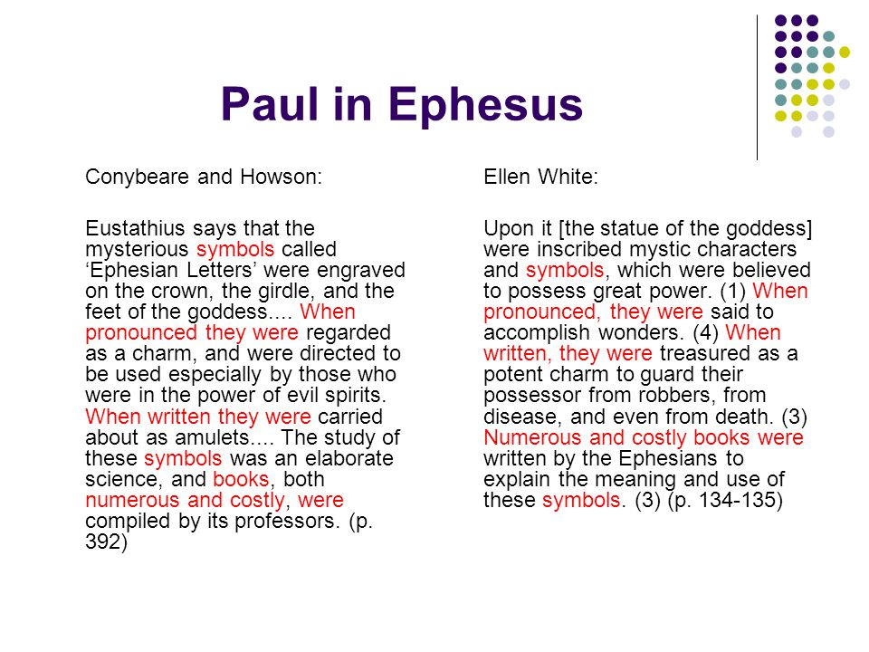 Paul in Ephesus Conybeare and Howson: