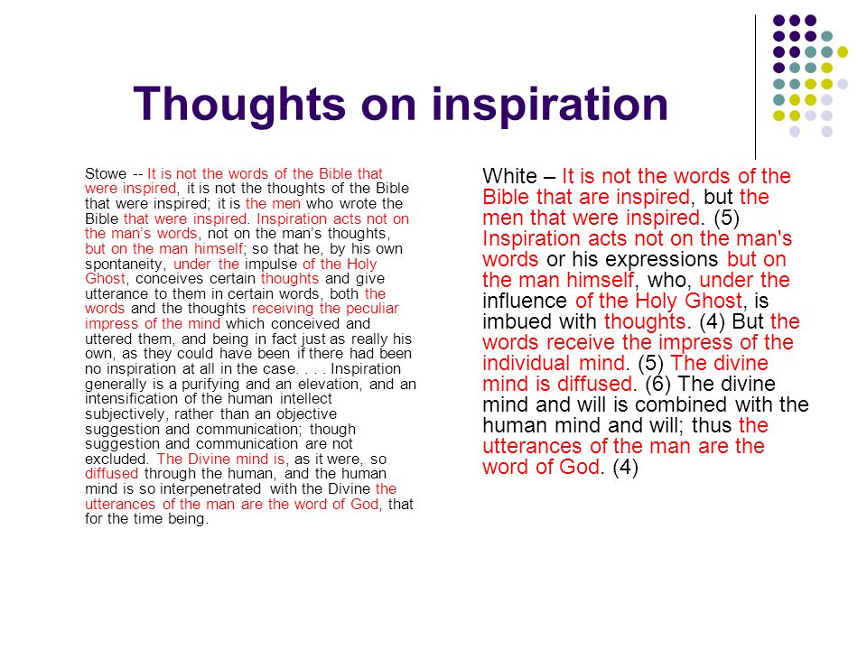 Thoughts on inspiration