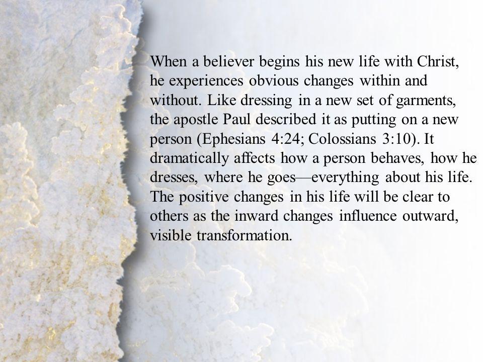 II. Change of Lifestyle (B)