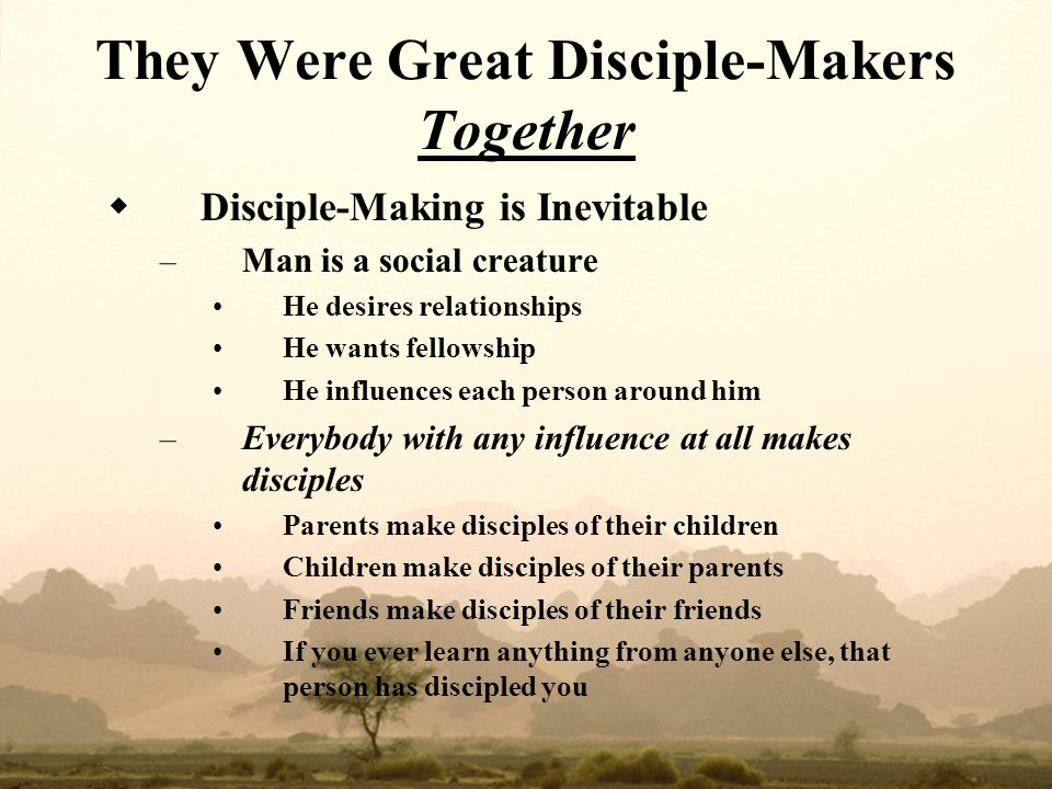 They Were Great Disciple-Makers Together