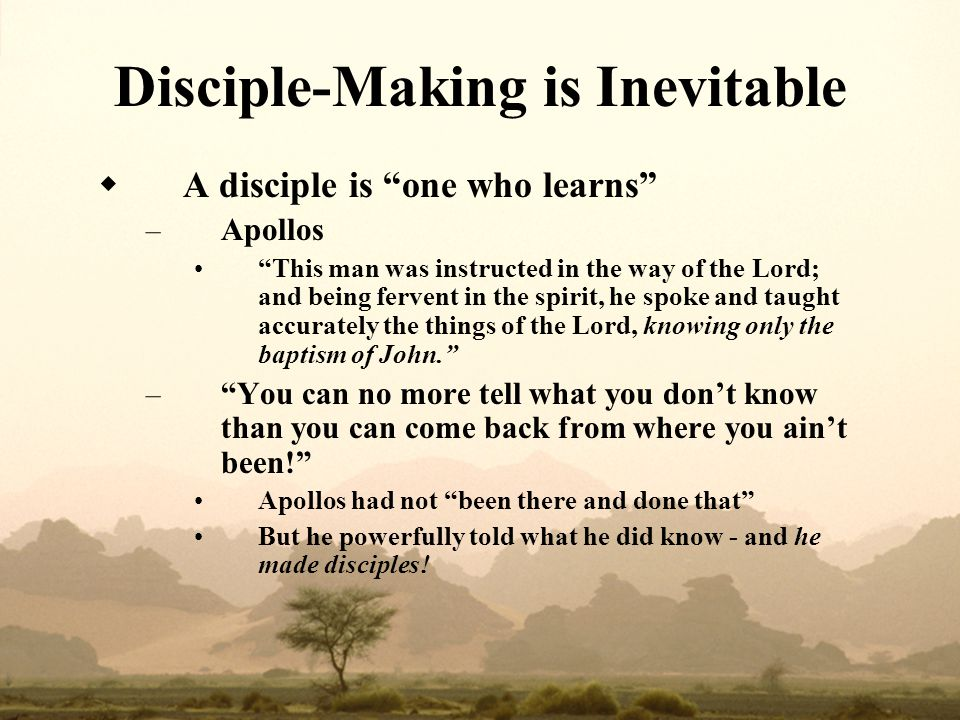 Disciple‑Making is Inevitable