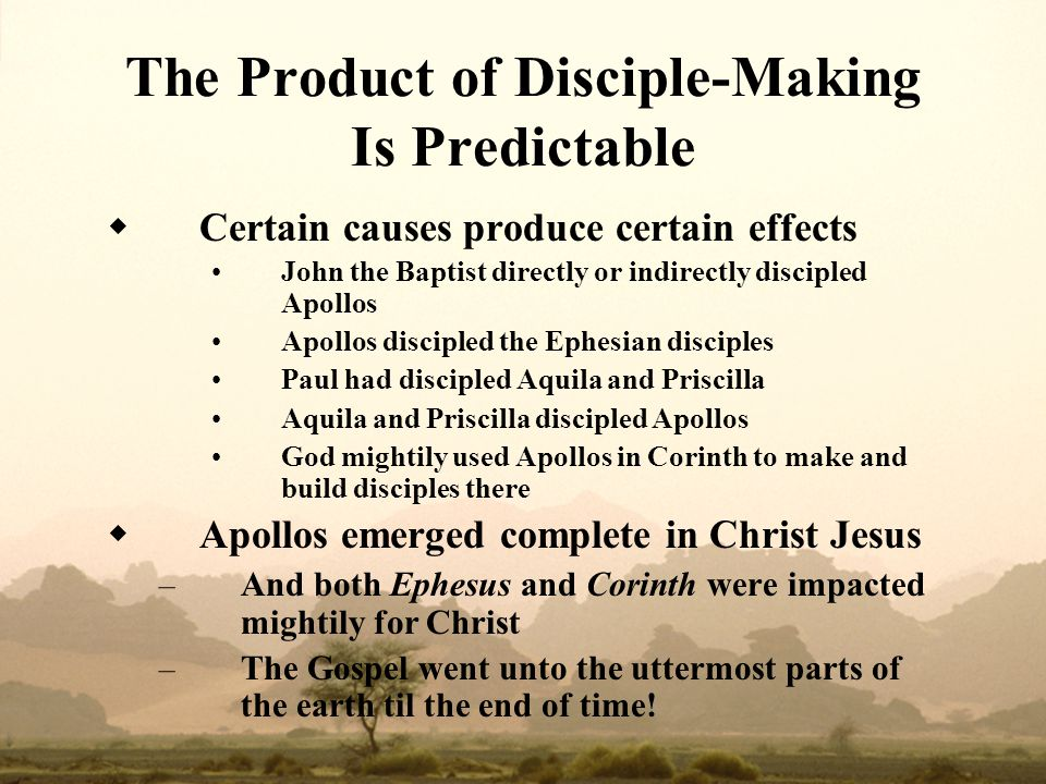 The Product of Disciple‑Making Is Predictable