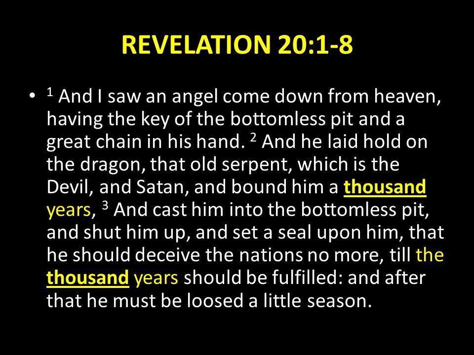 REVELATION 20:1-8
