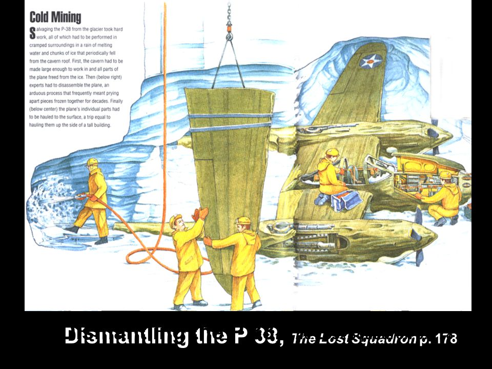 Dismantling the P 38, The Lost Squadron p. 178