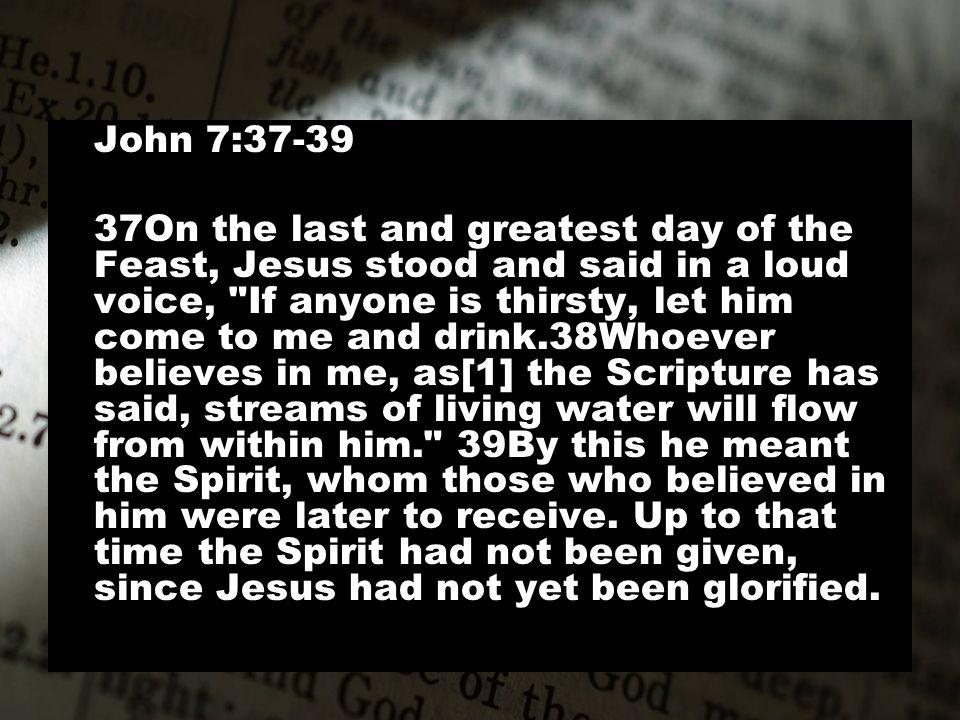 John 7:37-39