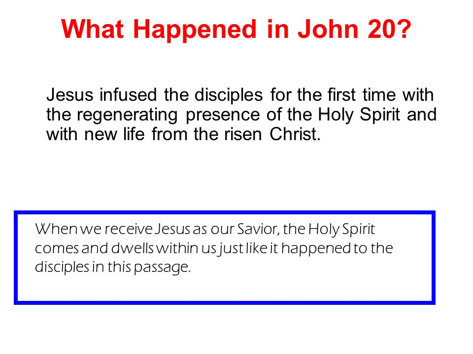 What Happened in John 20