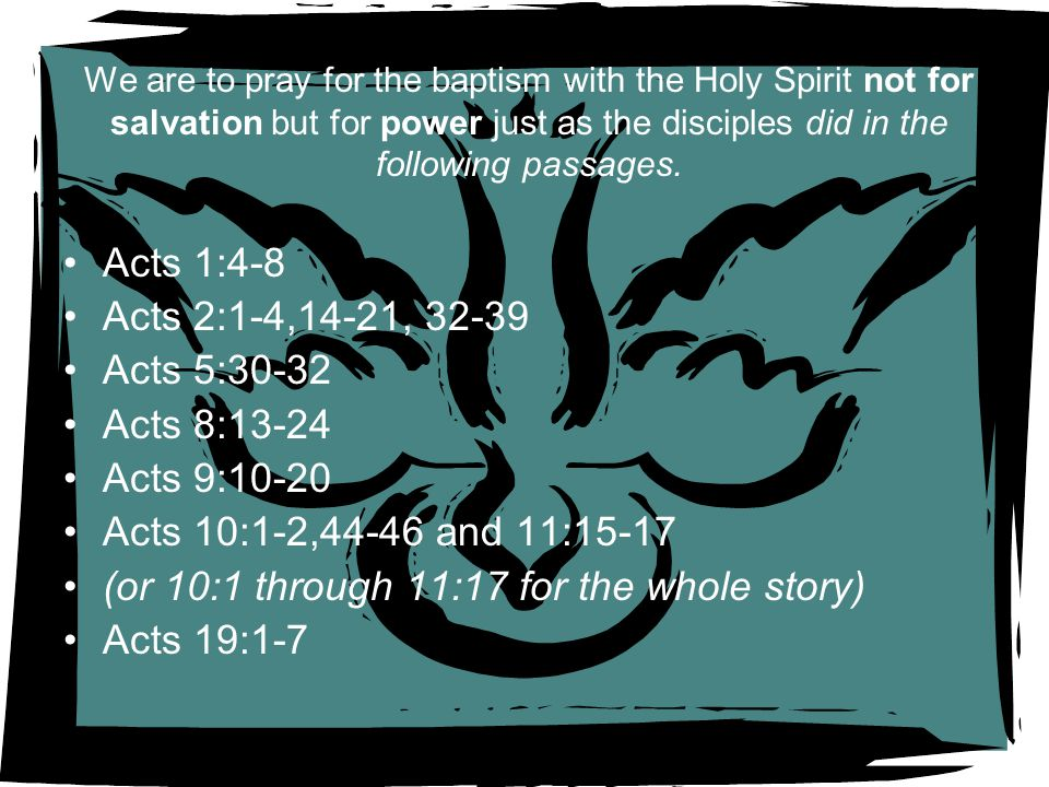 (or 10:1 through 11:17 for the whole story) Acts 19:1-7