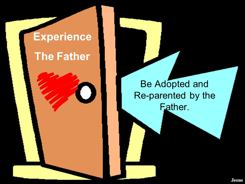 Be Adopted and Re-parented by the Father.