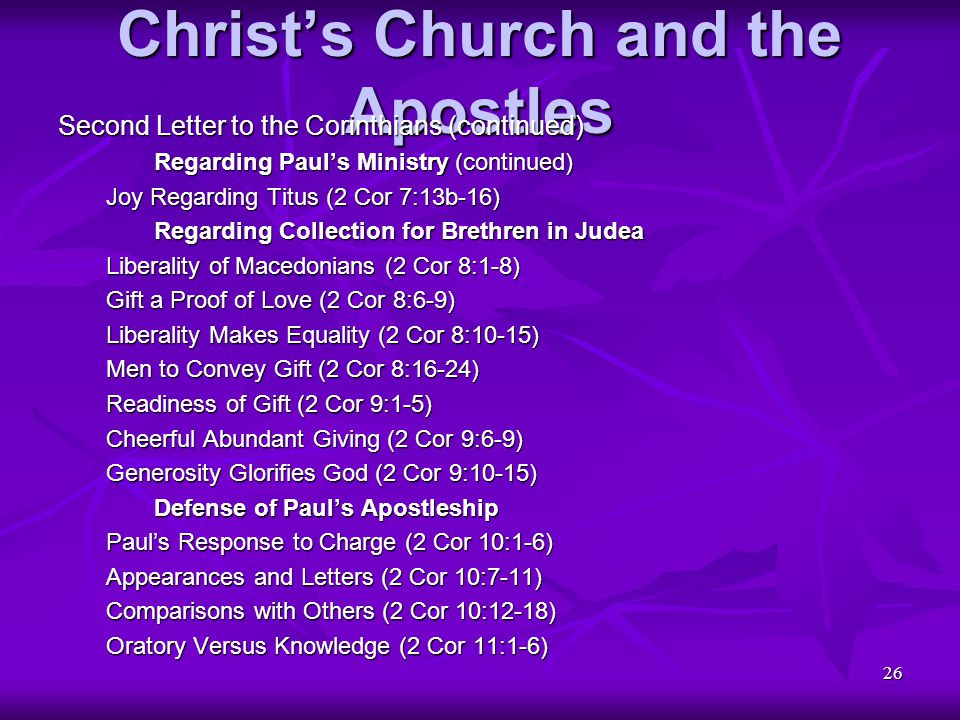 Christ's Church and the Apostles