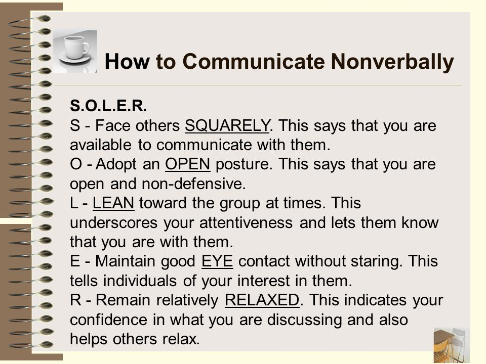 How to Communicate Nonverbally
