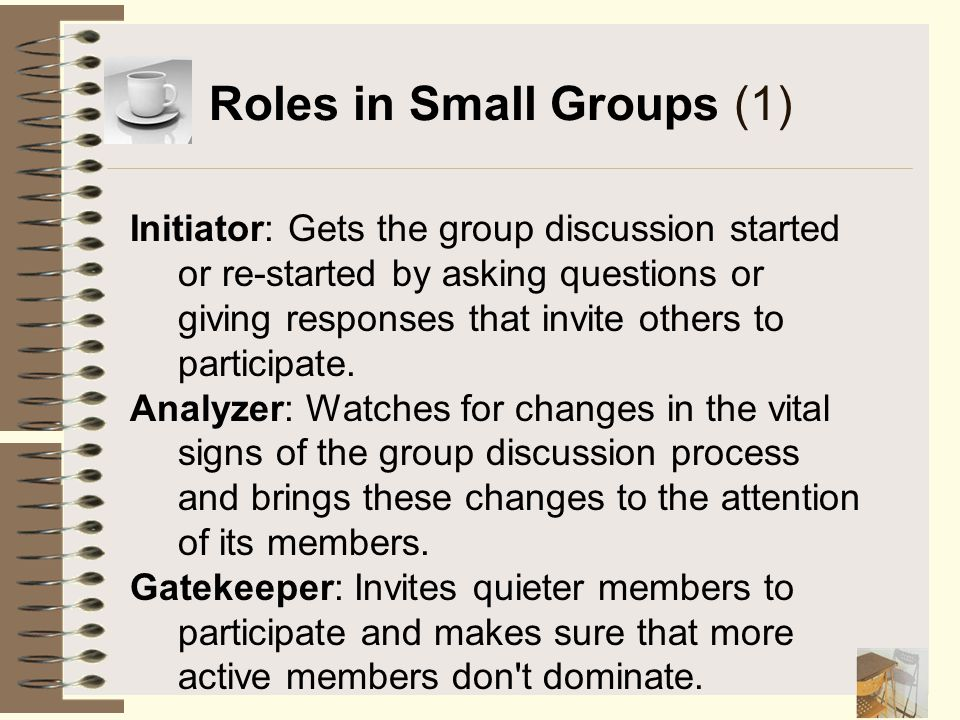 Roles in Small Groups (1)