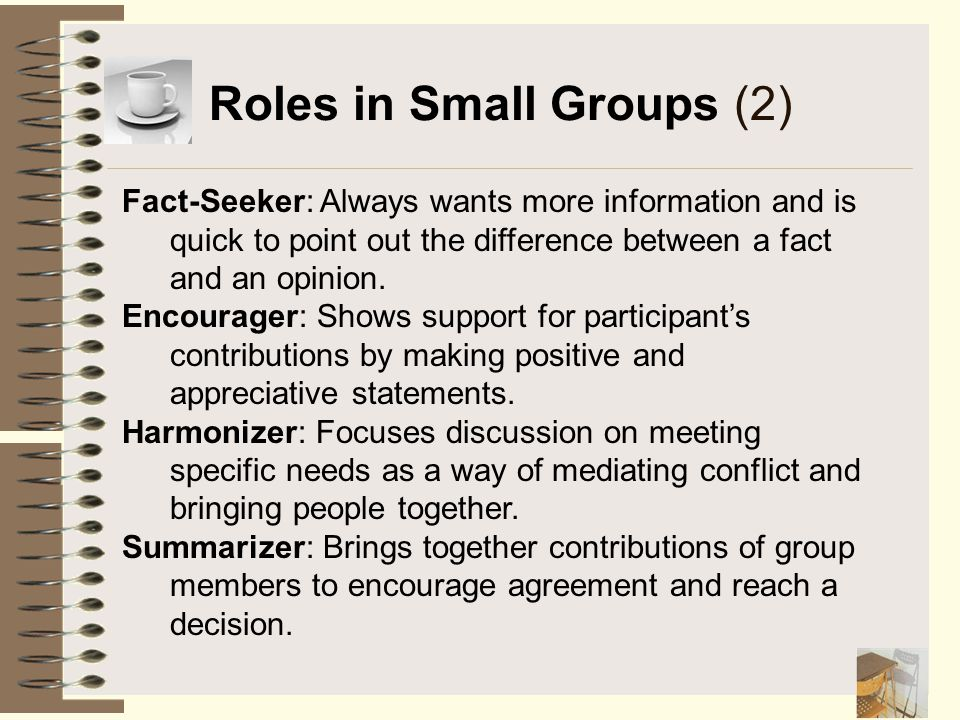 Roles in Small Groups (2)
