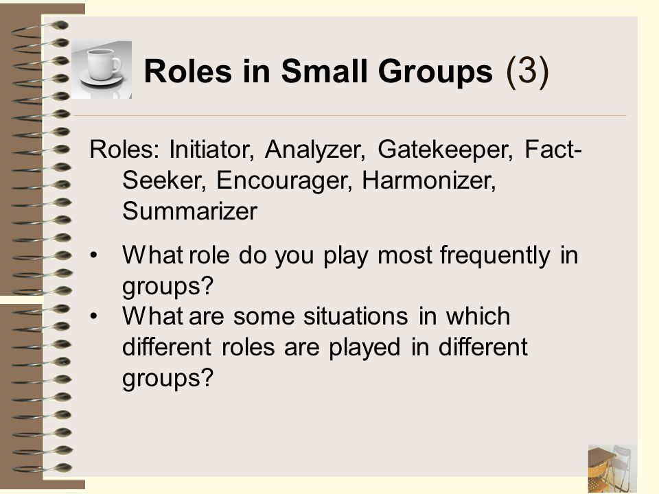 Roles in Small Groups (3)