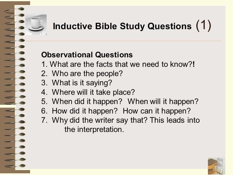 Inductive Bible Study Questions (1)