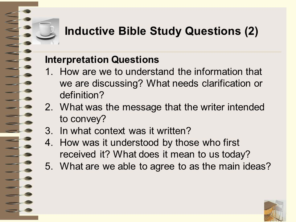 Inductive Bible Study Questions (2)