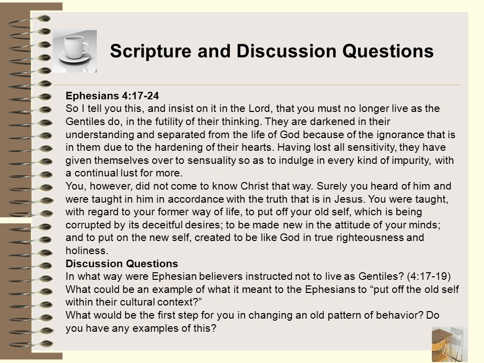 Scripture and Discussion Questions