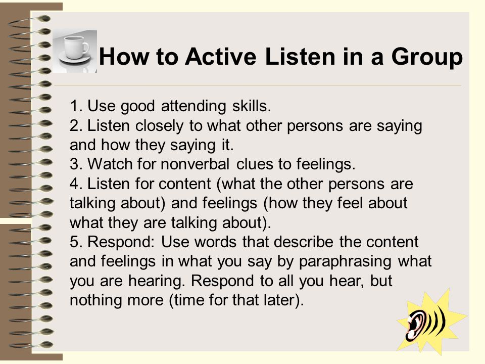 How to Active Listen in a Group