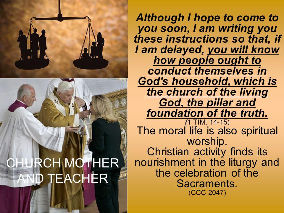 CHURCH MOTHER AND TEACHER
