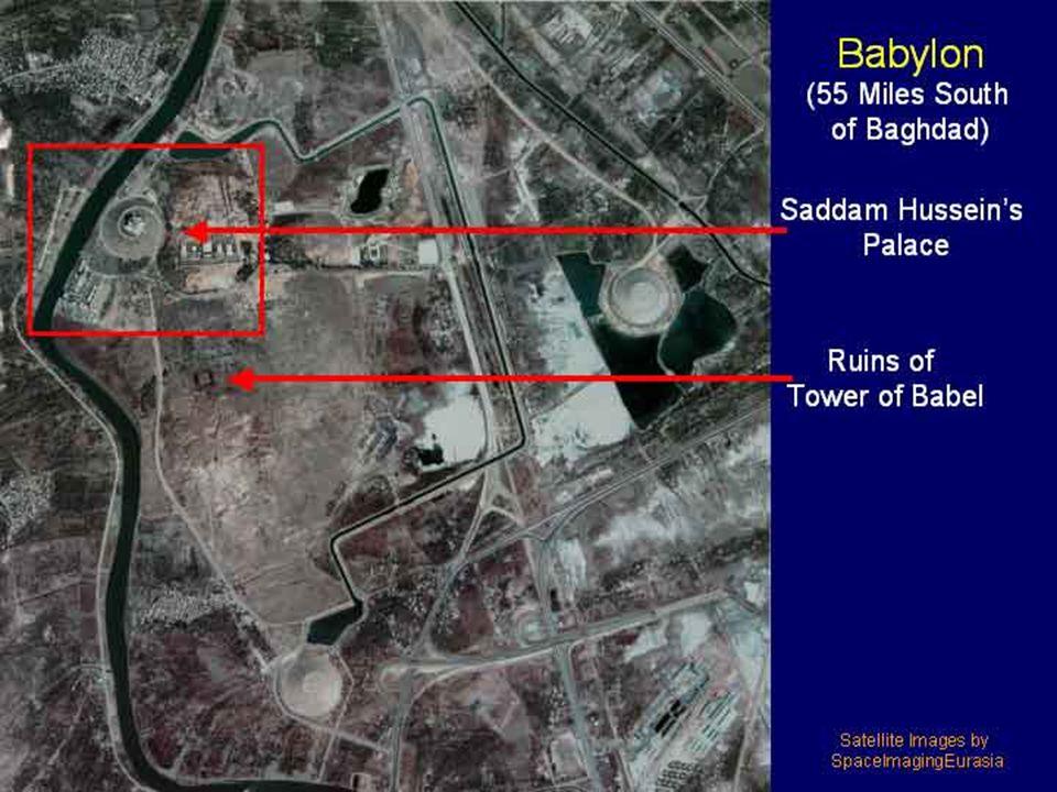 Babylon today – satellite photo