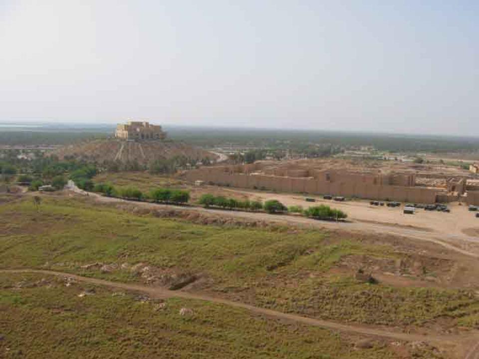 Photo – Saddam's palace and rebuilt ruins
