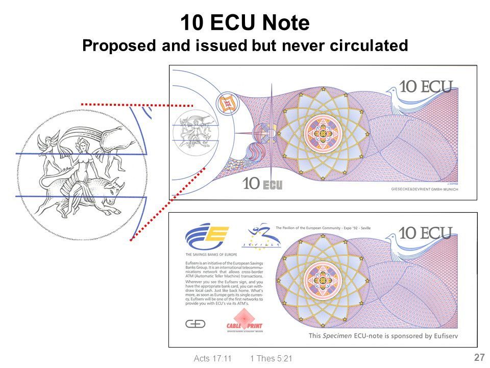 10 ECU Note Proposed and issued but never circulated
