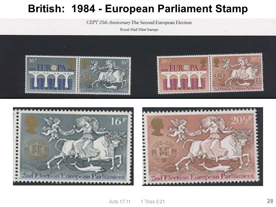 British: 1984 - European Parliament Stamp