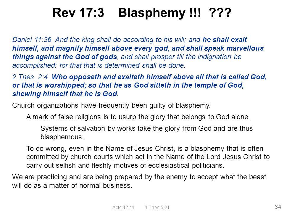 Rev 17:3 Blasphemy !!!
