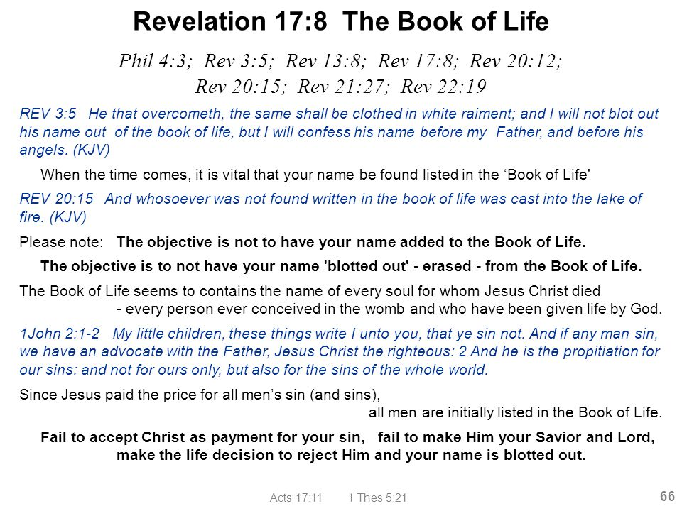 Revelation 17:8 The Book of Life