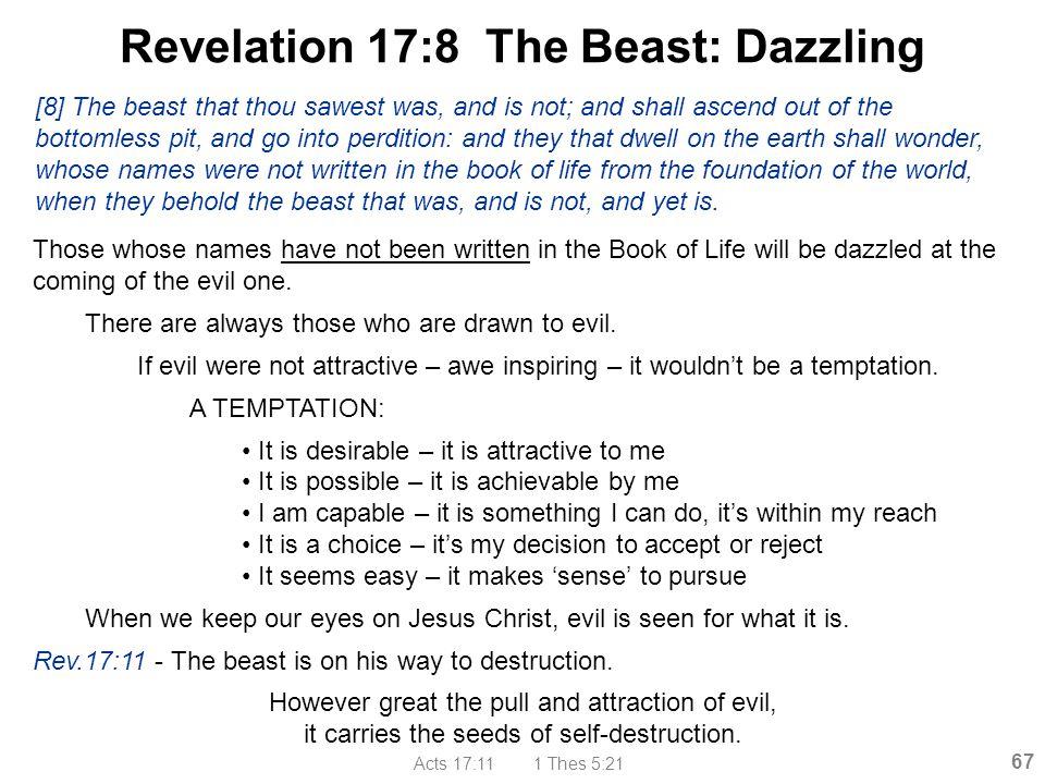 Revelation 17:8 The Beast: Dazzling