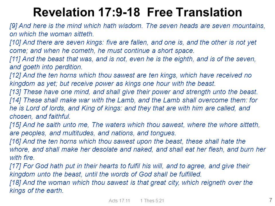 Revelation 17:9-18 Free Translation