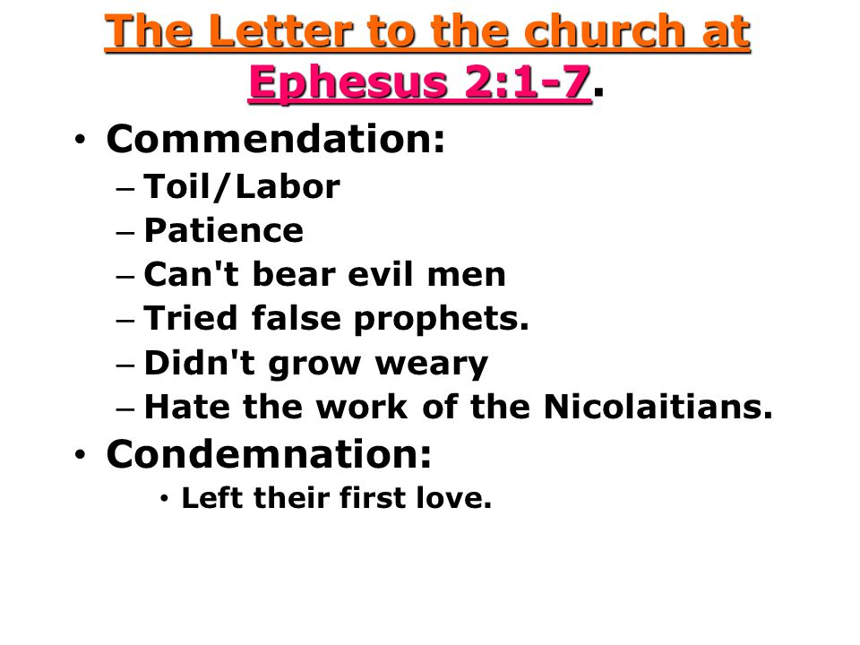 The Letter to the church at Ephesus 2:1-7.