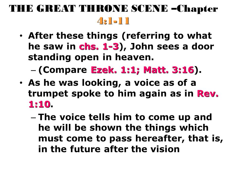 THE GREAT THRONE SCENE –Chapter 4:1-11