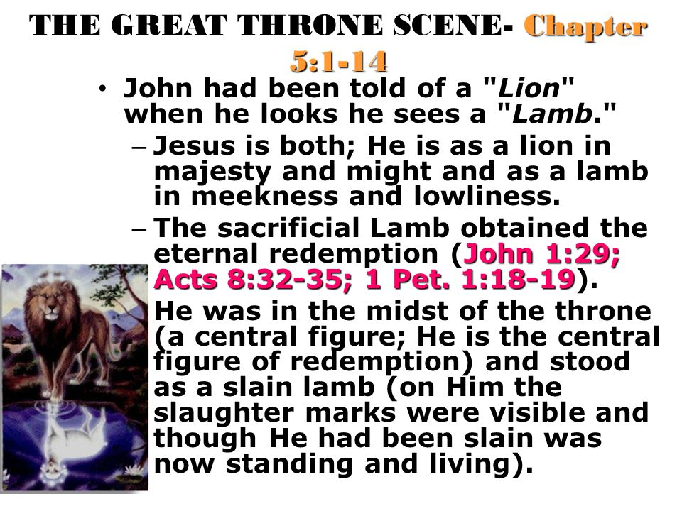 THE GREAT THRONE SCENE- Chapter 5:1-14