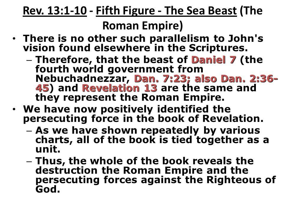 Rev. 13:1-10 - Fifth Figure - The Sea Beast (The Roman Empire)